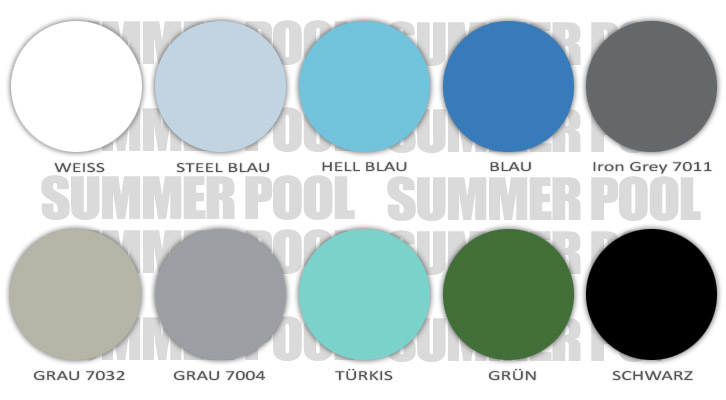 Summer Pool Farben