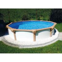 Summer Pool White Wood Set Rund