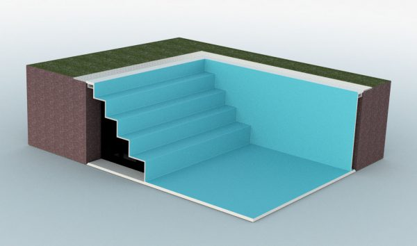 Summer Pool Treppe Breite