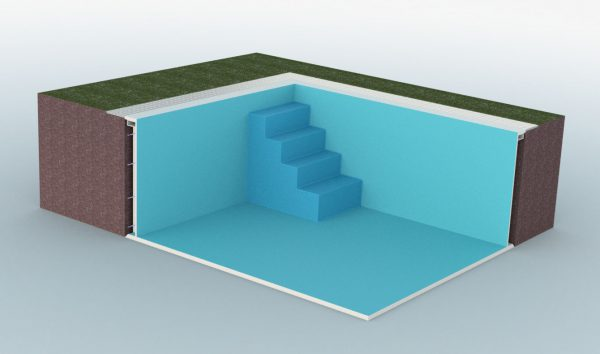 Summer Pool Treppe gerade